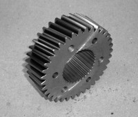 A dented gear